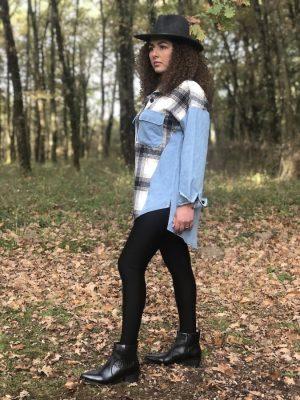 Chemise Jeans à Carreaux
